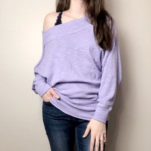 We The Free off the shoulder Purple Top